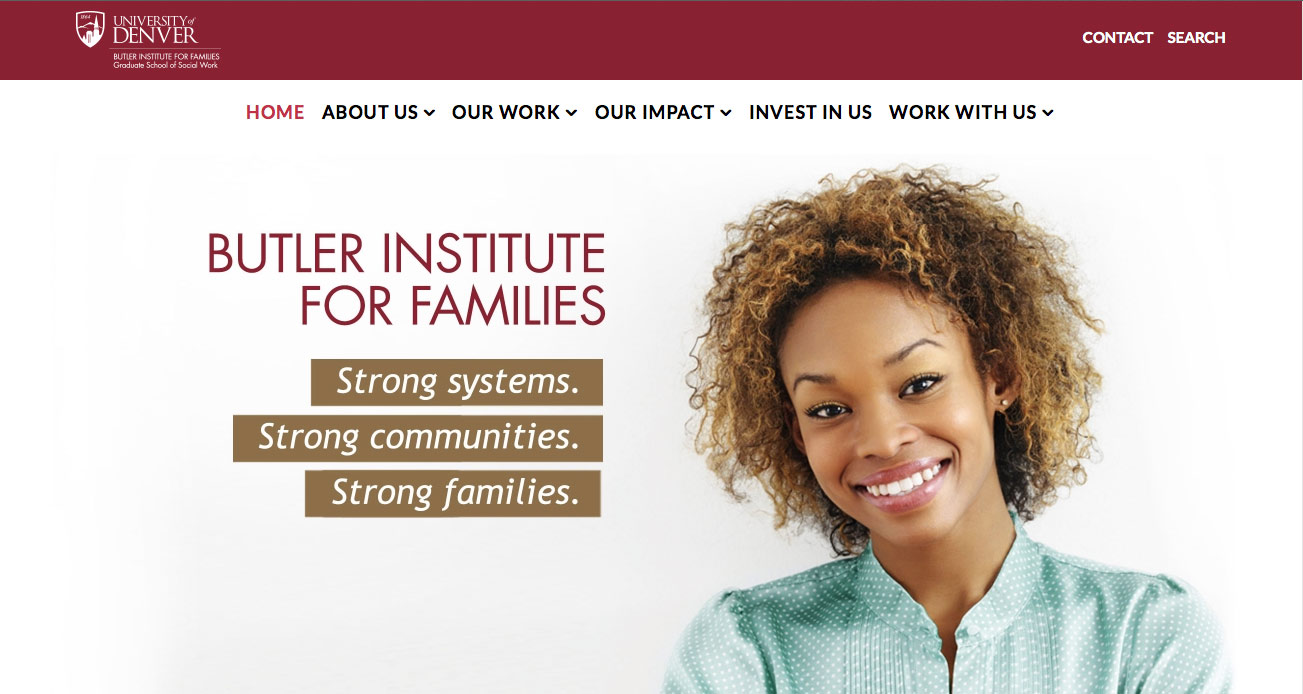 Butler Institute for Families Website